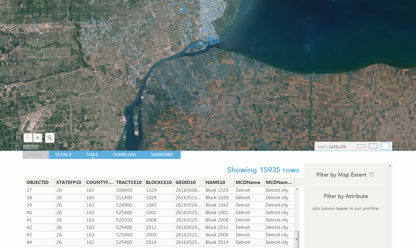 ArcGIS Web-site for Open Data