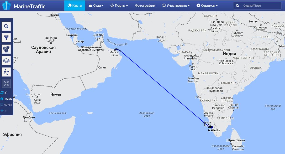Проблемы получения данных с судна Ovation of the Seas.