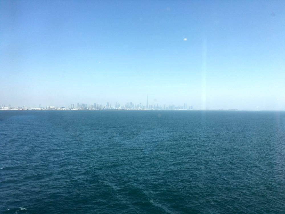 Отчалили в 14-ть часов из Дубая.