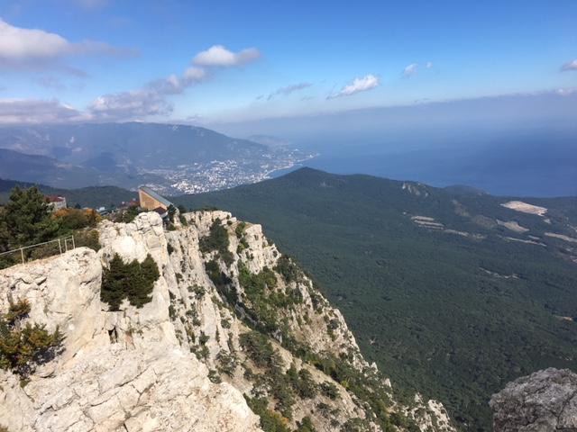 Вид с горы Ай-Петри. Ялта.